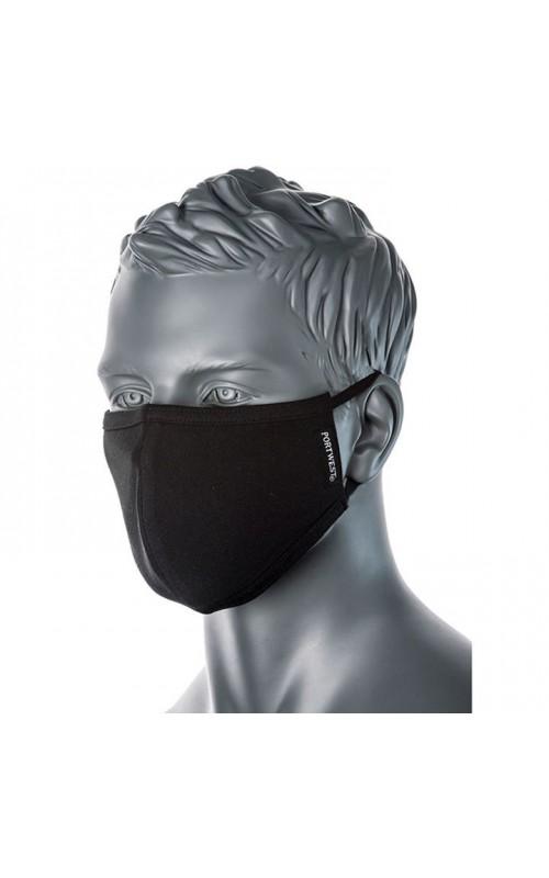 CV22 fekete textil maszk
